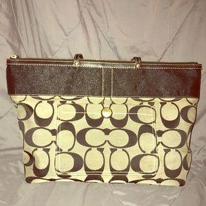 Used COACH BIG tote BAG
